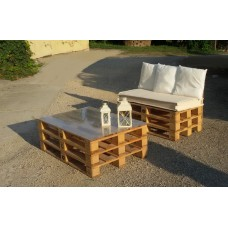salottino pallet naturale