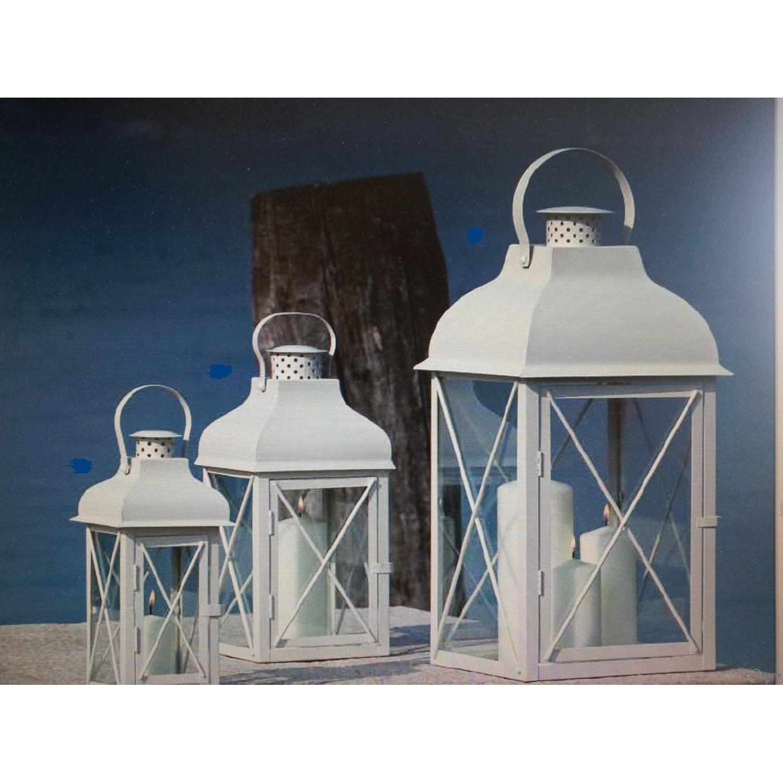 Lanterne in metallo bianche for Lanterne arredo