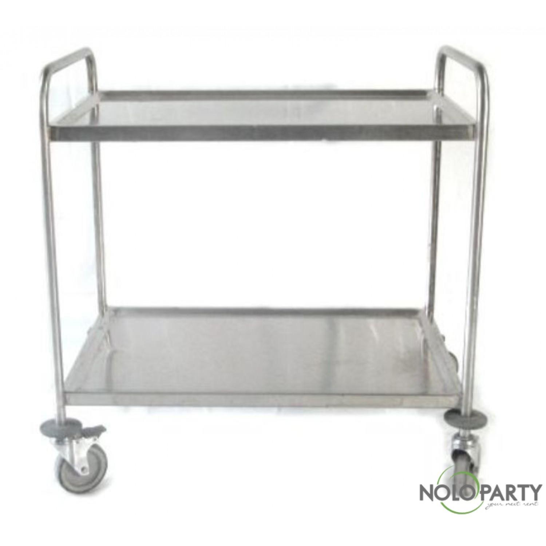 Carrello acciaio 2 piani con maniglie - Maniglie cucina acciaio ...