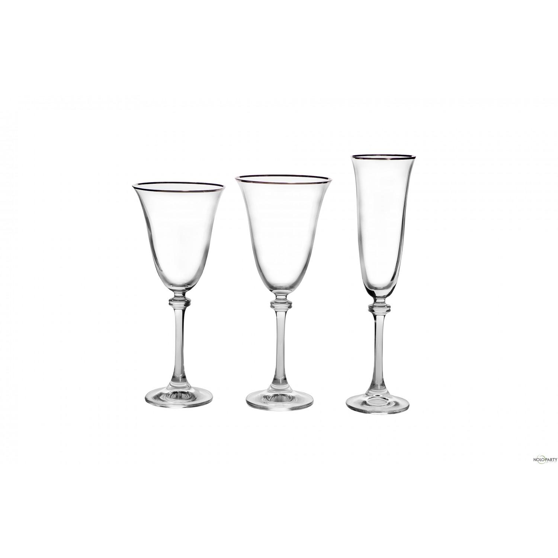 Bicchieri cristallo linea ip filo platino for Bicchieri cristallo