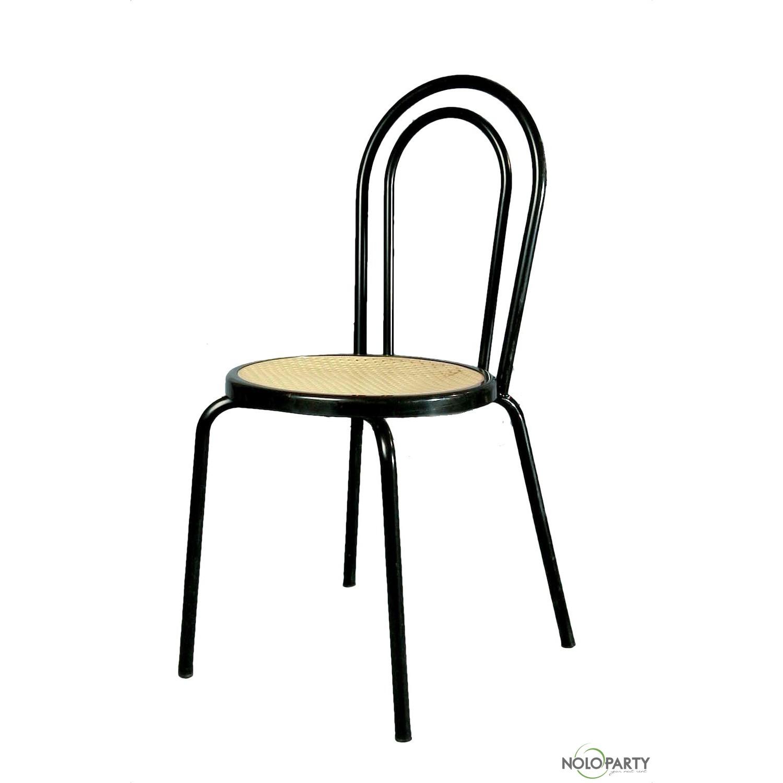 Sedia bistrot nera m for Noleggio arredi bologna